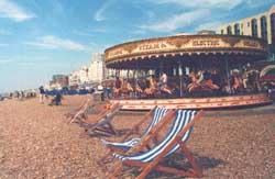 XIX. századi körhinta a brightoni tengerparton